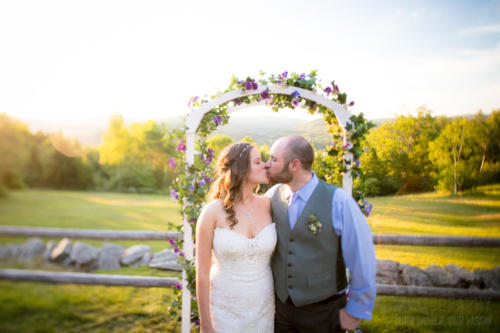 Erin and Mike are wed at Ohana Camp in Fairlee, Vermont. By wedding photographers at Eve Event Photography.